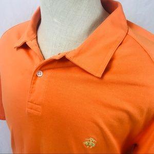 Brooks Brothers soft cotton orange polo shirt